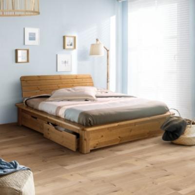 lit double noir avec rangement venus