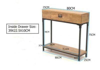 console 100 cm avec tiroir which