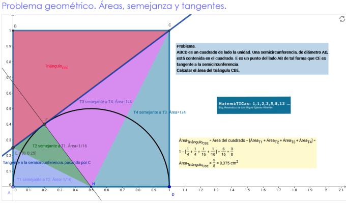 Problema geométrico_ Áreas, semejanza y tangentes_luismiglesias