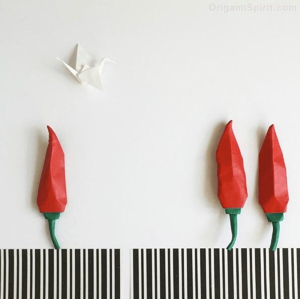 Origami Hot Pepper