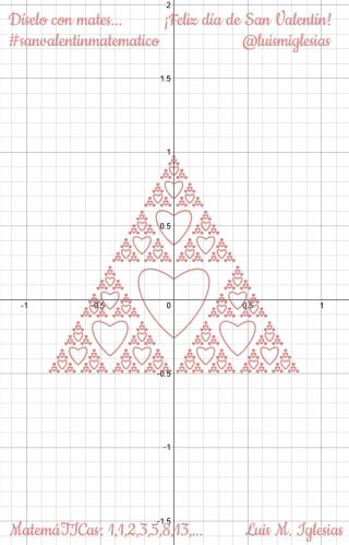 ¡¡Feliz día de San Valentín!! Díselo con Matemáticas… #sanvalentinmatematico