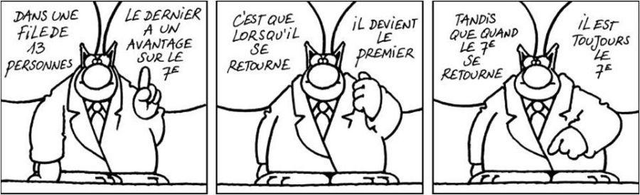 Viñeta de Le Chat, de Philippe Geluck