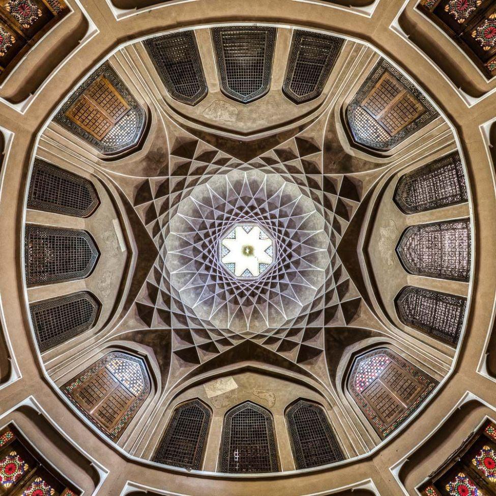 Ceiling of Dolat abad, Yazd