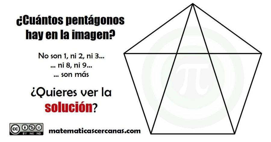 Cuántos Pentágonos Hay En La Imagen No Son 1 Ni 2 Ni 3 Ni 8 Ni 9 Son Más Aquí Tienes La Solución Matematicascercanas