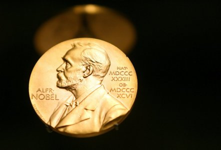A Nobel Prize Medal in Stockholm, Sweden, December 8, 2007. (Kay Nietfeld—picture-alliance/dpa/AP Images)