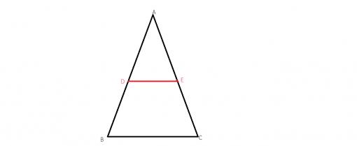 Cum aplicam teorema lui Thales intr-un triunghi