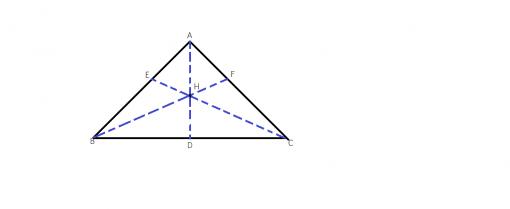 cate inaltimi putem duce intr-un triunghi