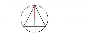 triunghi echilateral inscris intr-un cerc
