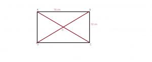 cum aflam cosinusul unghiului format de diagonalele unui dreptunghi