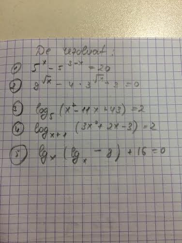 ecuatii logaritmice