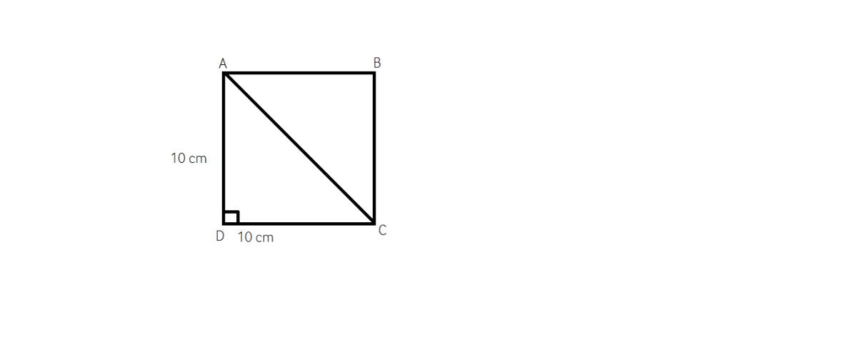 cum aflam diagonala intr-un patrat