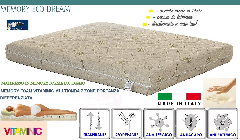 Materasso Memoria Di Forma.Materasso Singolo Memory Eco Dream Materassi Manzi