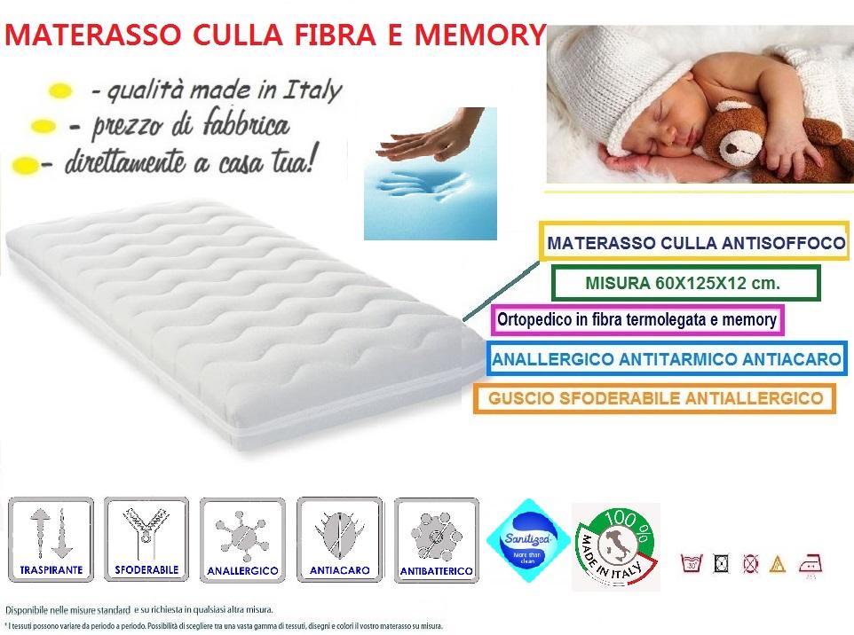materasso fibra e memory NUOVO