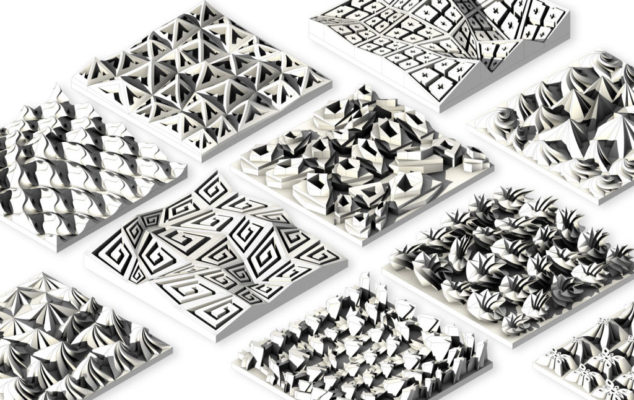 Ancient Greek inspired patterned 3D tiles 3