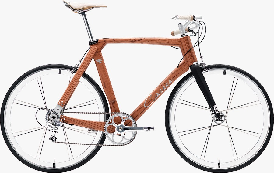 Carrer wooden bicycles