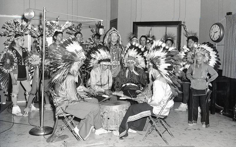 Pawnee Indian School students