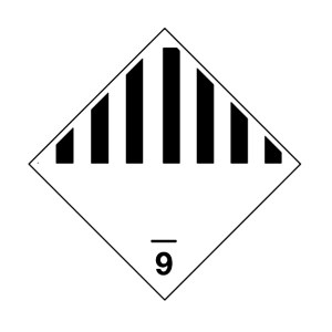 Etiqueta ADR Clase 9 Materias y objetos peligrosos diversos