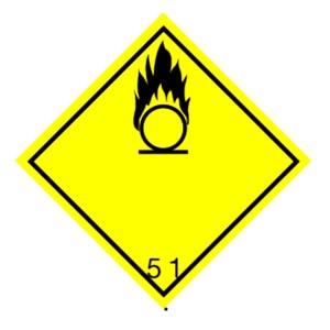 Etiqueta ADR materias comburentes