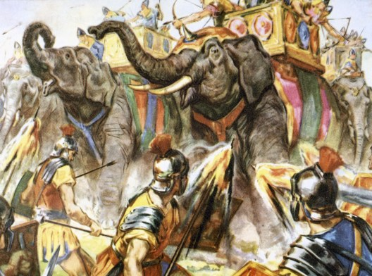 Punic War. Hannibal defeated the Roman legions met him in Spain, and crossed the south of France.