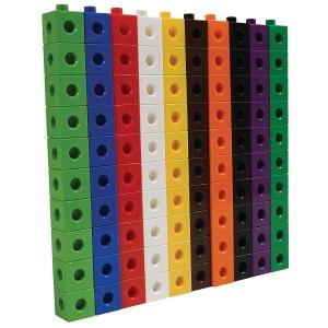 Cuburi colorate asamblabile 100 buc. 31