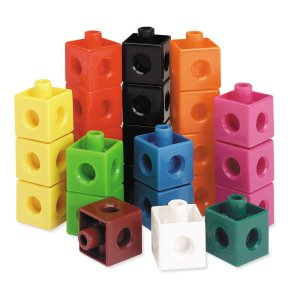 Cuburi colorate asamblabile 100 buc. 33