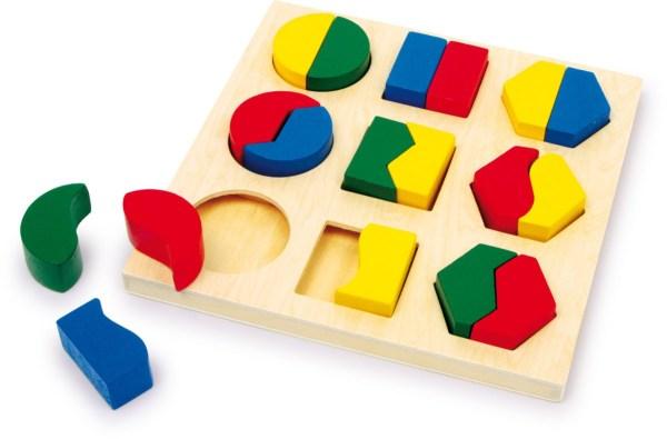 Puzzle, cutie identificarea formelor 3