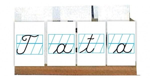 Litere de mana - set de cartonase etalabile 3