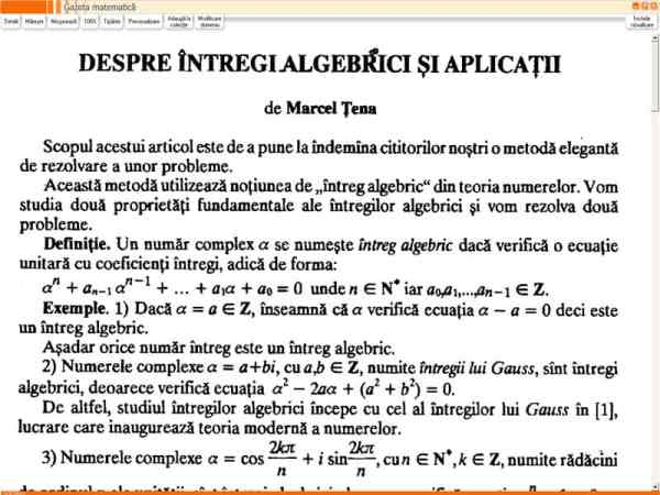 Gazeta Matematica - Editie Electronica 5