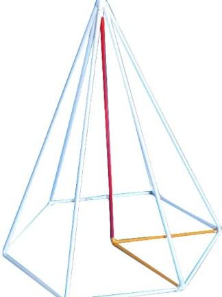 Piramida hexagonala regulata, model pe muchie