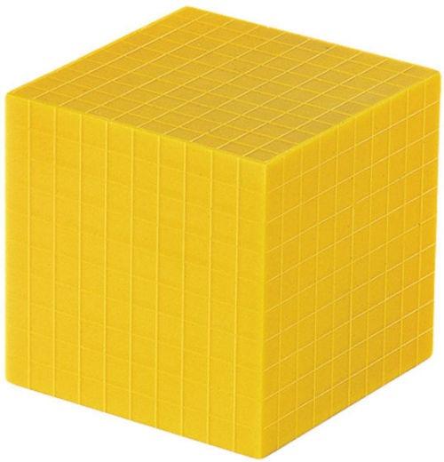 Sistemul zecimal - cuburi baza 10 interconectabile 9