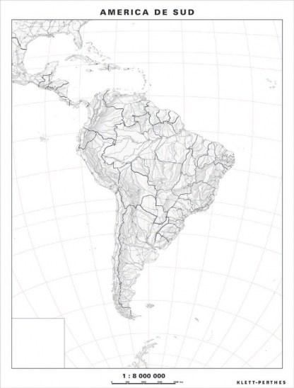 Harta de lucru - America de Sud