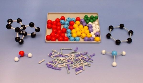 Set pentru modele moleculare de substante organice, anorganice 3
