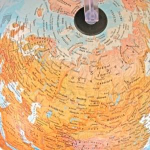 Glob geografic pamantesc iluminat 24