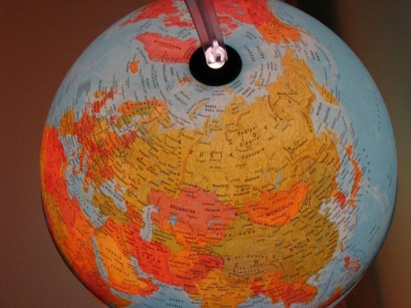 Glob geografic pamantesc iluminat 13