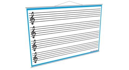 Tabla alba de perete pentru muzica