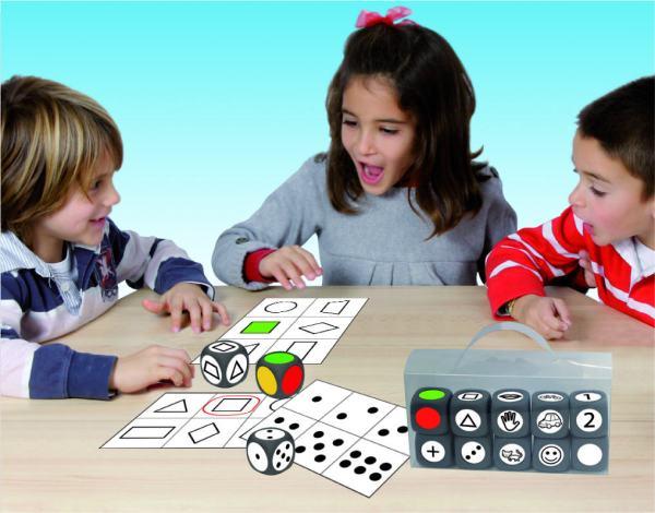 Joc cu zaruri - asociere forma, numar si culoare 3
