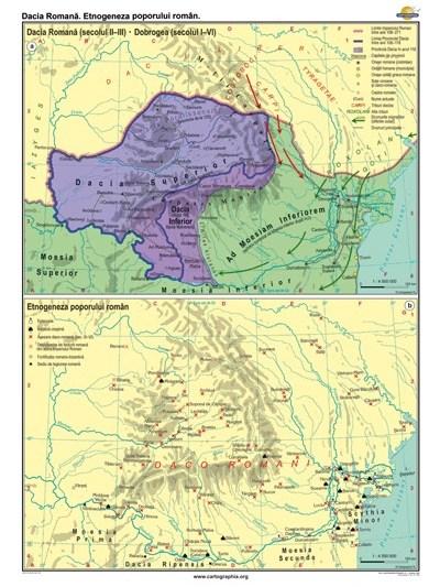 Dacia Romana. Etno-geneza poporului roman