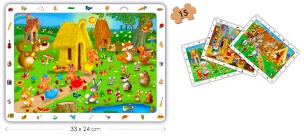 Puzzle 4 in 1 - Povesti Clasice 9