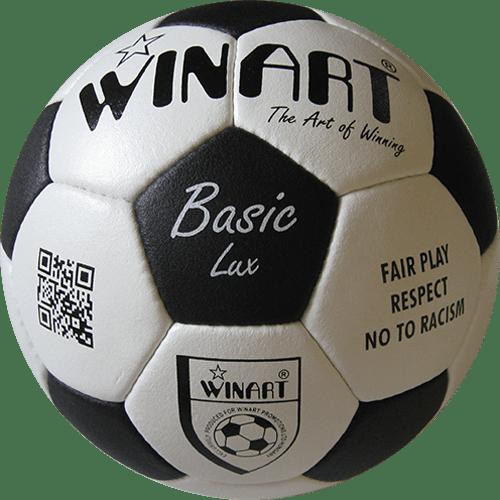 Minge fotbal din piele naturala Basic Lux