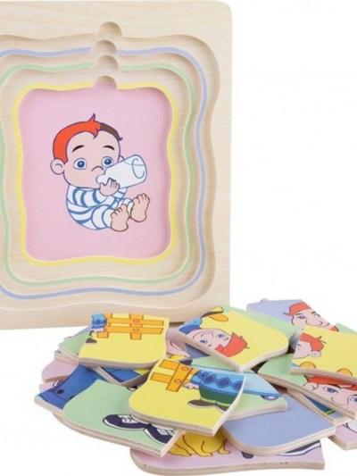 Puzzle straturi Bebe-Bunic