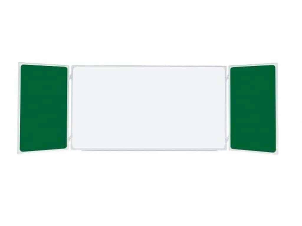 Tabla scolara triptica combinata alba verde