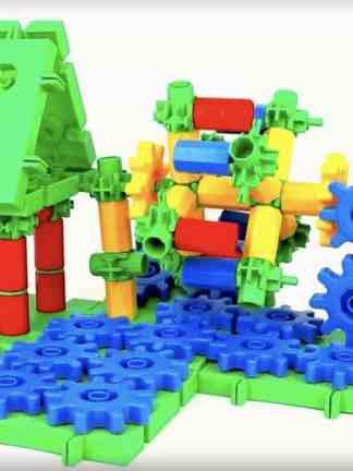 Set de construit din roti dintate - 320 piese