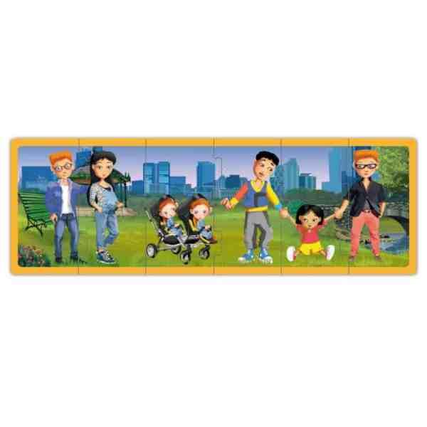 Set puzzle familiile lumii 7