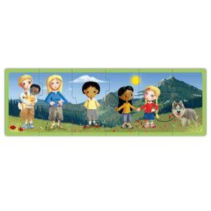 Set puzzle familiile lumii