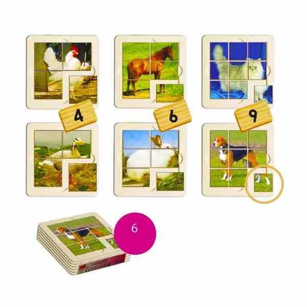 Animale de ferma - puzzle 3