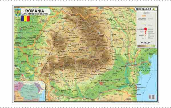 Harta Romania Format 70 x 100 cm 3