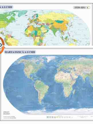 Harta fizica si administrativa a Lumii
