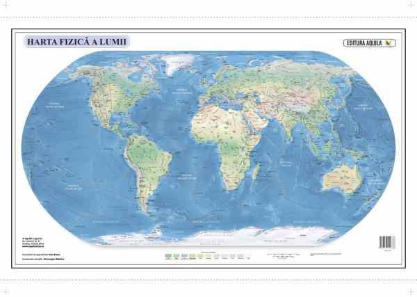 Harta fizica si administrativa a Lumii 4
