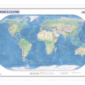 Harta fizica si administrativa a Lumii 6
