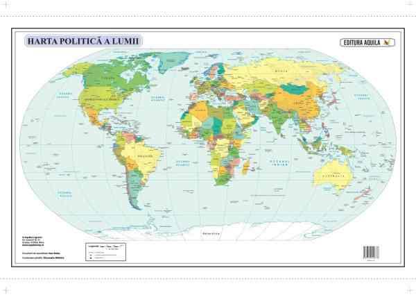 Harta fizica si administrativa a Lumii 5